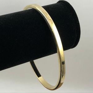 Vintage 925 Silver Viermeil Gold Bangle Bracelet